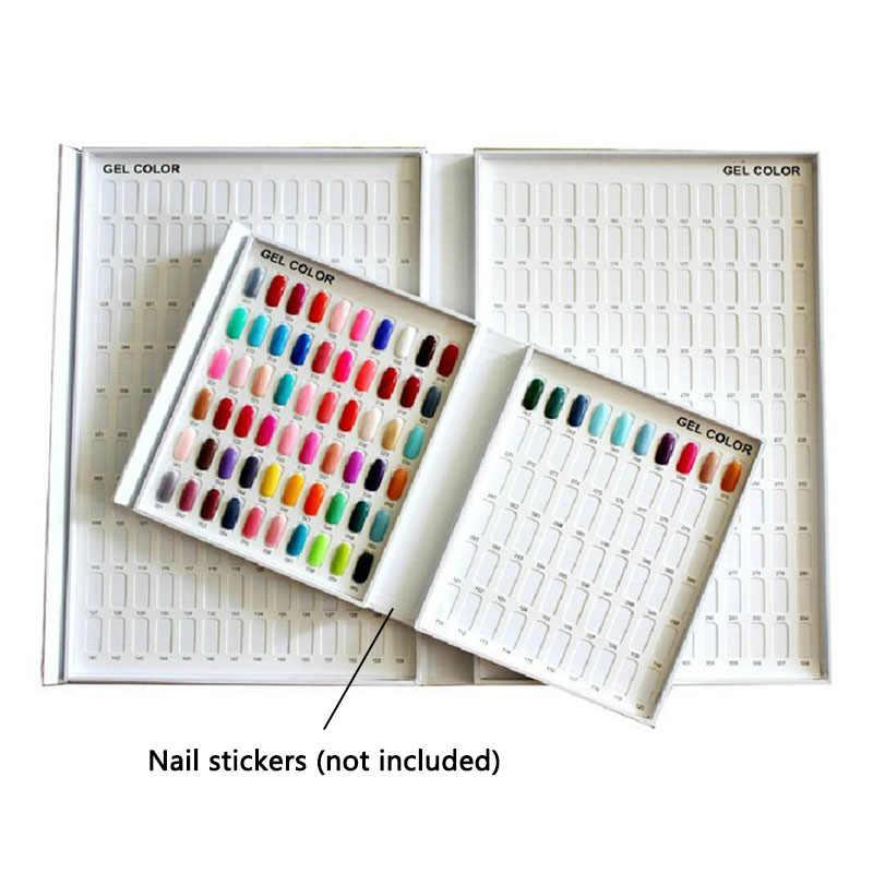 جيل للأظافر البولندية اللون صندوق عرض كتاب المهنية نموذج مخصصة 120 الألوان بطاقة الرسم البياني اللوحة مانيكير مسمار أدوات الرسم