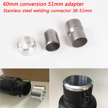38mm 51mm 60mm Universal Motorcycle Stainless Steel Connector Adapter Silp on Tail Exhaust Muffler Pipe System