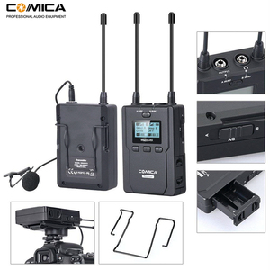 Image 3 - Wireless Lavalier Microphone System, Comica CVM WM200 UHF Wireless Lapel Mic for DSLR Camera, XLR Camcorders Video Recording