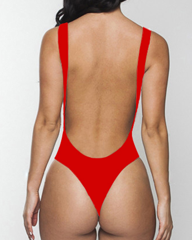 one piece swimsuits Halter Suit bathing suit with bra high cut ...