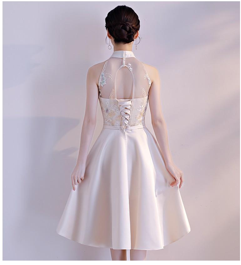 Robe de soiree bonito barato curto meninas