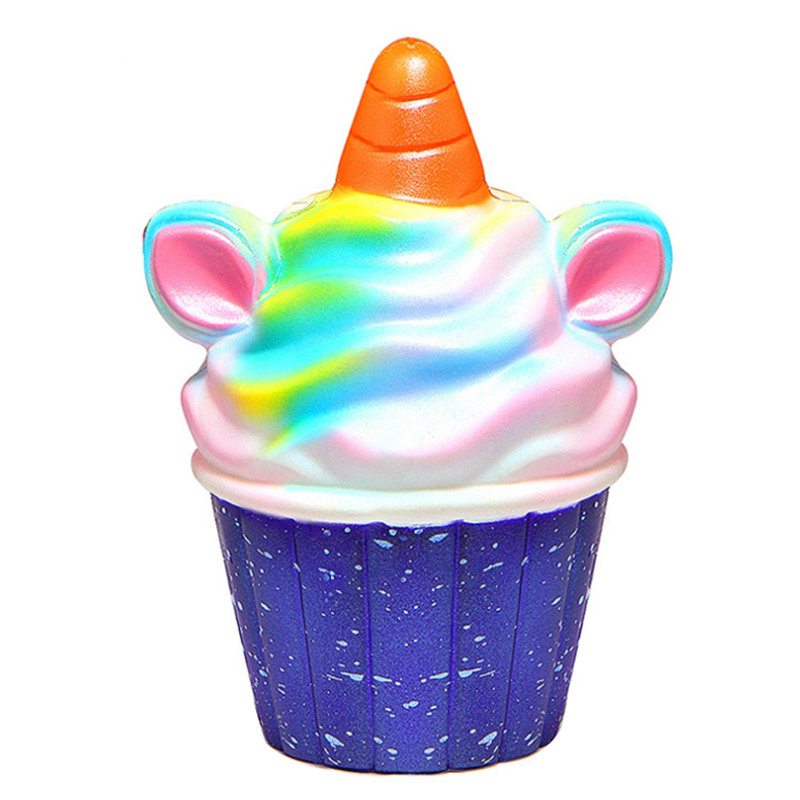 Jumbo Galaxy Colorful Unicorn Ice Cream Squishy Slow Rising Soft Squeeze Toy Bread Cake Scented Fun For Baby Kid Xmas Gift Toy