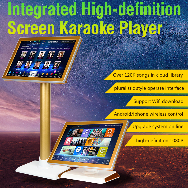 US $479 2 20% OFF|HD HYNUDAL Chinese Karaoke Player Home Karaoke Machine  2TB HDD Integrated High definition Touch Screen Player-in Karaoke Player  from