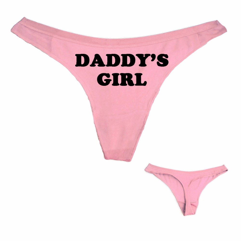 7e06f954c207 Cheap Moda mujer sexy Seamless Tanga Ropa interior Daddy's Girl impresión  mujeres t Bragas G string