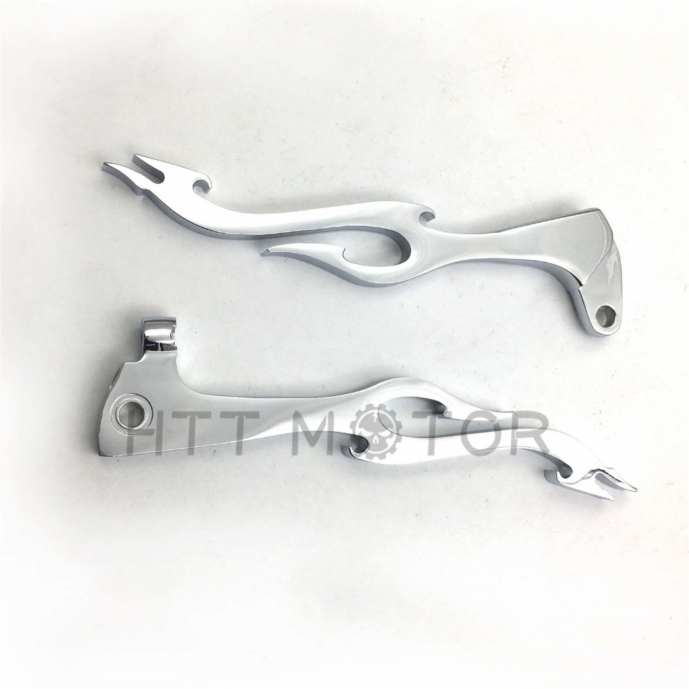 Aftermarket free shipping motorcycle parts Brake Clutch Flame Lever Yama Virago 250 535 700 750 1000 1100 V Star Chromed