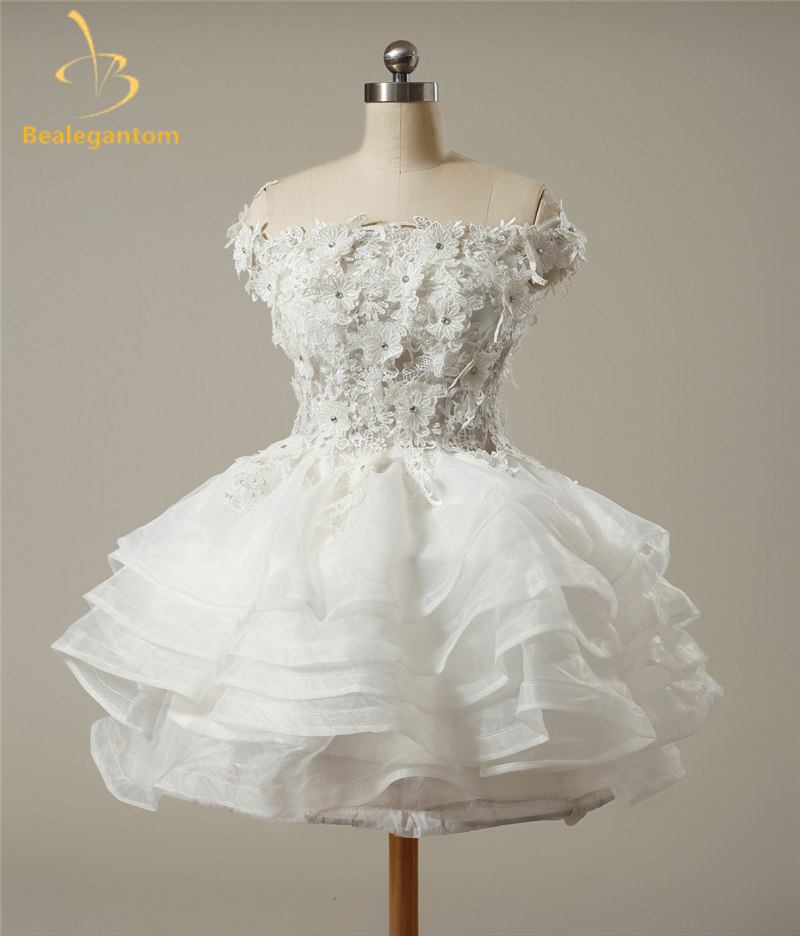 New Stock Sweetheart Organza Cheap Short Homecoming Dresses 2019 Beaded Crystals Cocktail Graduation Prom Party Gowns QA1079