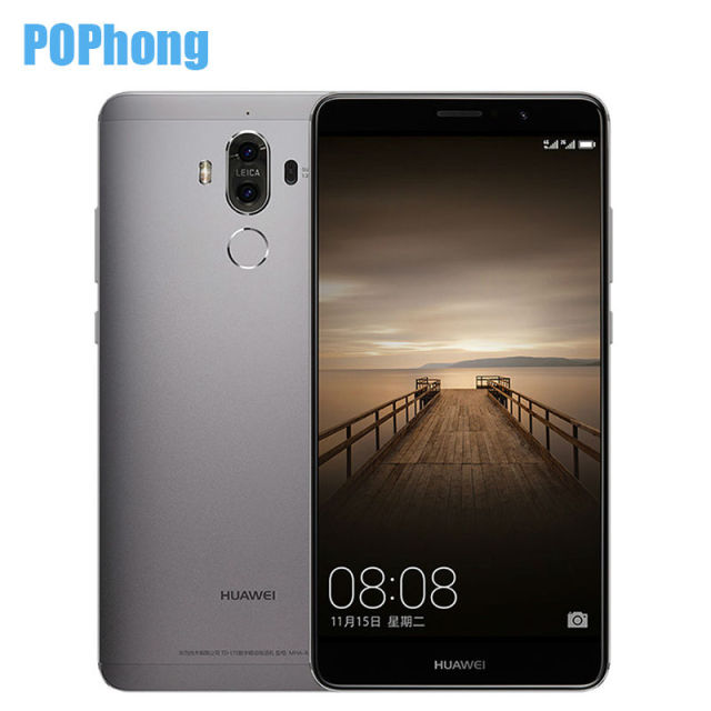 Stock Original Huawei Mate 9 4G 32G Android 7.0 Cell Phone 5.9 inch Octa Core Kirin 960 Dual Card Dual Rear Camera 20.0MP+12.0MP