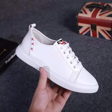 Hot Sale Spring Autumn New Fashion Women Small White Shoes High Quality Genuine Leather Lace-Up Arts Casual Loafers Shoes mycolen 2018 spring autumn sports shoes korean leather women s new small white shoes new fashion cowhide shoes women casual