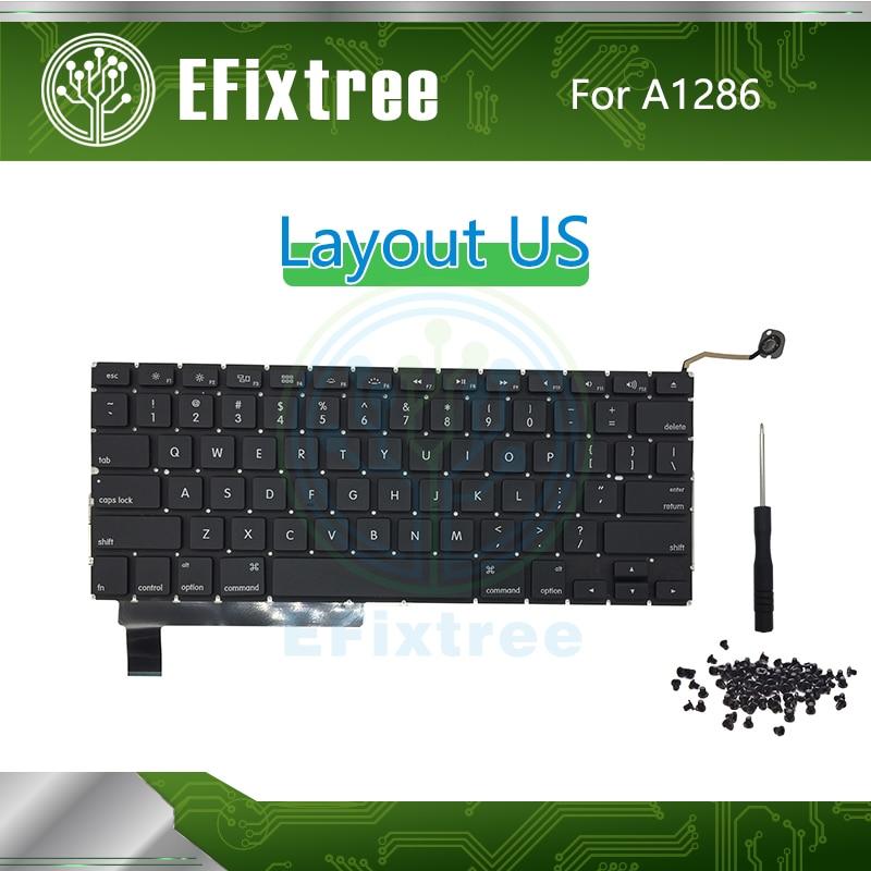 "MacBook Pro 15/"" A1286 2009 2010 2011 2012 US ENGLISH KEYBOARD BACKLIGHT"