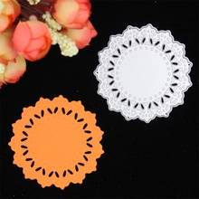 Flower Doily Metal Cutting Dies Stencils for DIY Scrapbooking/photo album Decorative Embossing DIY Paper Cards(China (Mainland))
