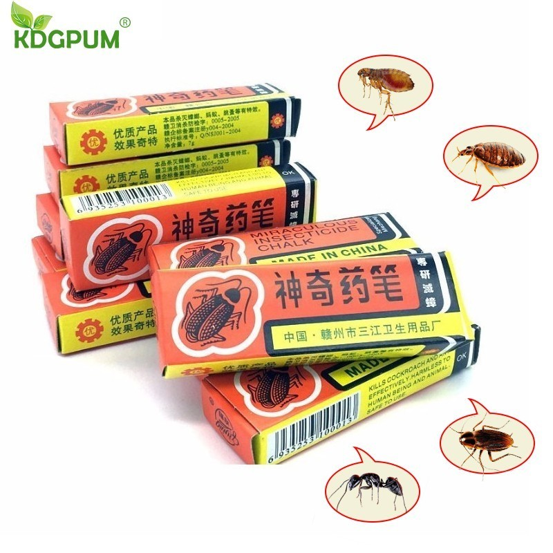20pcs Cockroaches Repellent 2018 Miraculous Chalk Cockroach Poison Ant Drugs Insecticide Chalk Bed Bug Killer Home Pest Control gis chino para chinches
