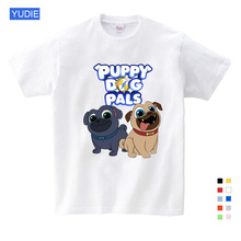 Summer Cartoon Dog Friends Print Tee Tops for Boy Girls Kids Clothes White Funny T-shirt Kids T Shirt Clothes  Fashion  Cartoon