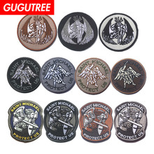 GUGUTREE embroidery HOOK&LOOP angel patch patches badges applique for clothing AD-166
