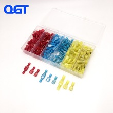 180 Pcs Fully Insulated Male/Female Spade Wire Crimp Quick Disconnects Wire Terminals Connector Set (Yellow, Red Blue) цена и фото