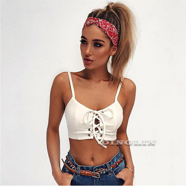 """""""LACED UP"""" cropped top"""