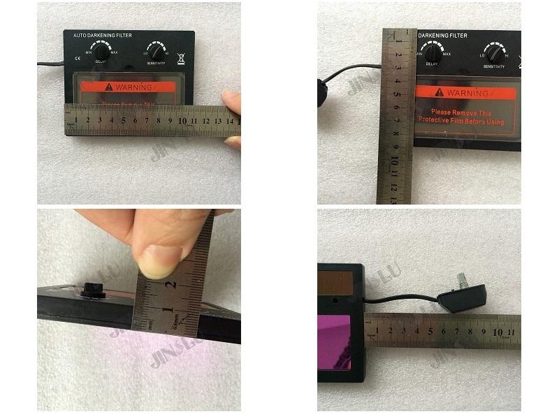 Competent Li Batterij Zonne Auto Verduistering Shading Lassen Filter Twee Gratis Film Voor De Lassen Masker En De Lashelm Voor Het Verbeteren Van De Bloedsomloop
