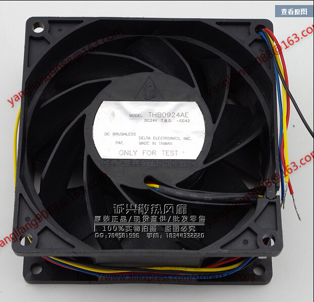 DELTA ATHB0924AE CC42 DC 24V 0.76A 90x90x38mm Server Square Fan