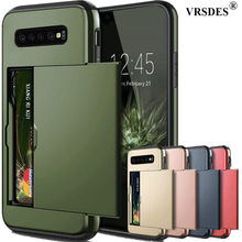 For Samsung Galaxy S10 Plus S9 S8 S7 S6 Edge S5 S10E S10 5G Case Slide Armor Wallet Card Slots Holder Cover For Samsung Note 9 8(China)