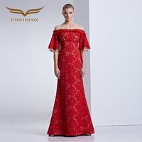 Coniefox 31589 red Designer Extreme Luxury Prom Long Dress Celebrity Retro Elegant evening Dresses gown Wedding Dresses 2016 new