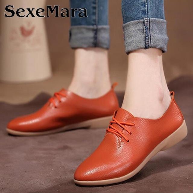 Flat dance shoes women's cowhide casual shoes genuine leather dance shoes female single shoes fashion