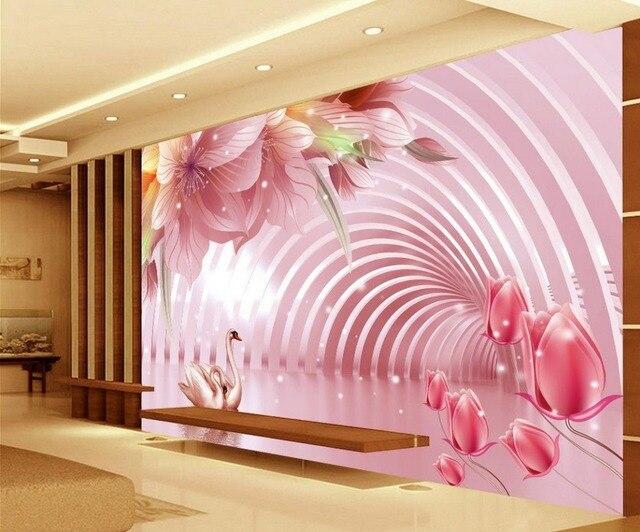 3d Wallpaper Flower TV Backdrop Fantasy Flowers Custom Photo Large 3D Stereo Romantic