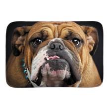 Cute Perro Bull Dog Doormat Soft Lightness Indoor Front Door Mats Home Decor Animals Design Short Plush Fabric Bathroom Mats