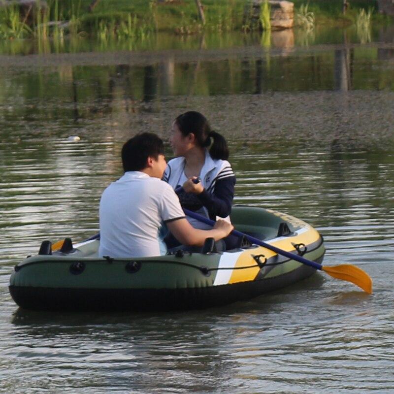 FISHMAN 3 personne bateau à poisson 252*125*40 cm PVC bateau gonflable pêche kayak pompe à aubes sac de transport sac à dos canot radeau rame pagaie - 5
