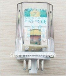 10PCS JQX-10F 10A DC 12V Coil PCB Electromagnetic Relay