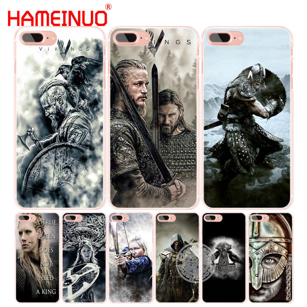Galleria fotografica HAMEINUO vikings Ragnar Lothbrok 5 cell phone Cover case for iphone 6 4 4s 5 5s SE 5c 6s 7 8 plus X