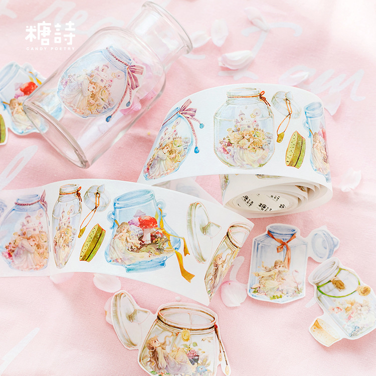 1 pcs Washi Tapes Cartoon Girl Boys Special ink Painting paper Masking tape Decorative Adhesive Tapes Scrapbooking Stickers 5m