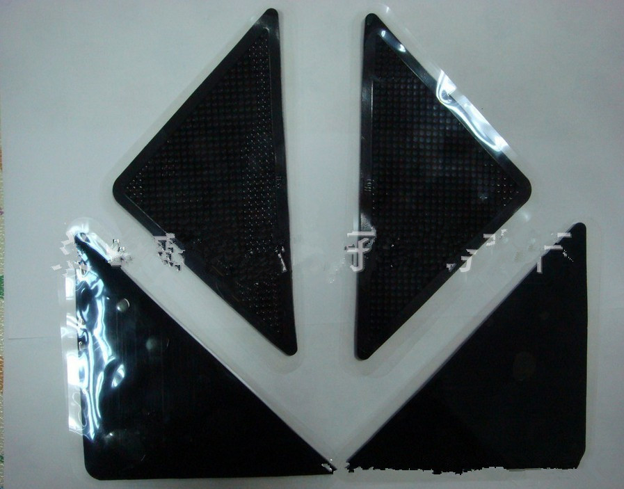 Natural Rubber Capet Non-slip Mat Sale Black 15*7.5cm 4pcs/set Geometric Pattern Bathroom Or Living Room 2016 Simple