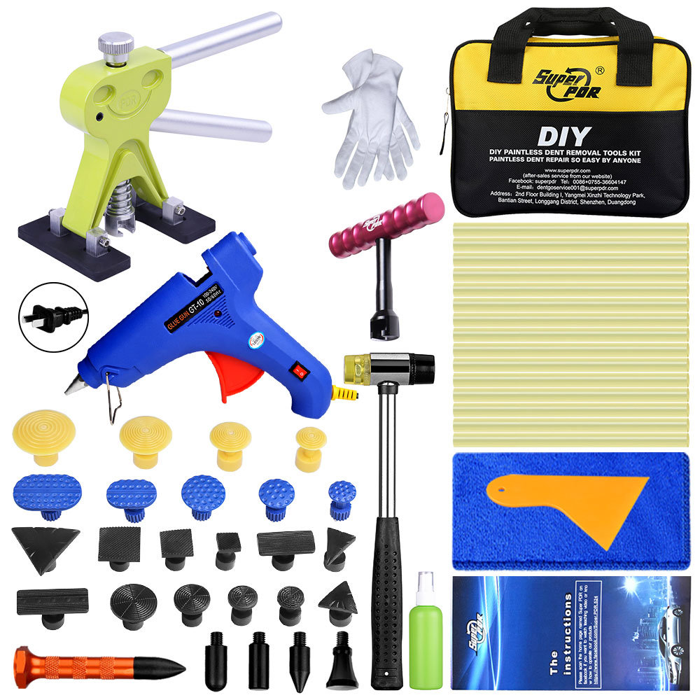 Best Super PDR 12 Pieces Glue Tab Dent Repair Tools Auto Dent Remover Kit Tools For Car Dent Puller Suction Cups Hand Tools Set Best Super PDR 12 Pieces Glue Tab Dent Repair Tools Auto Dent Remover Kit Tools For Car Dent Puller Suction Cups Hand Tools Set