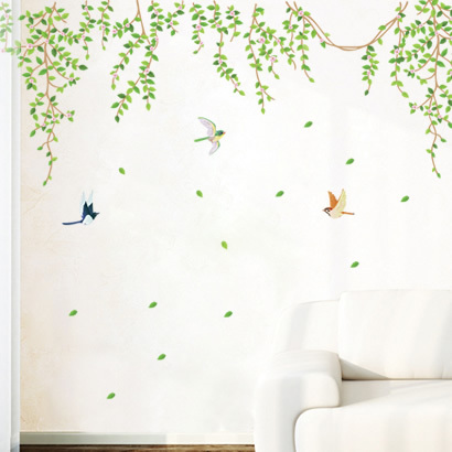 Wall stickers qihii romantic wall tv sofa ceiling
