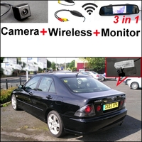 3 In1 Special Rear View Camera Wireless Receiver Mirror Monitor DIY Parking System For Lexus IS300
