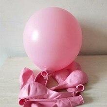Pink macaron balloon 50pcs/lot 12 inch spherical latex inflatable wedding air ballon baby birthday party balloons decoration ann