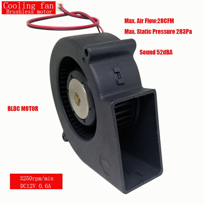 ONPO 12V BLDC MOTOR FAN DC BRUSHLESS 0.6A 3250RPM MAX AIR FLOW 28CFM USED FOR Radiator fan Cooling fan