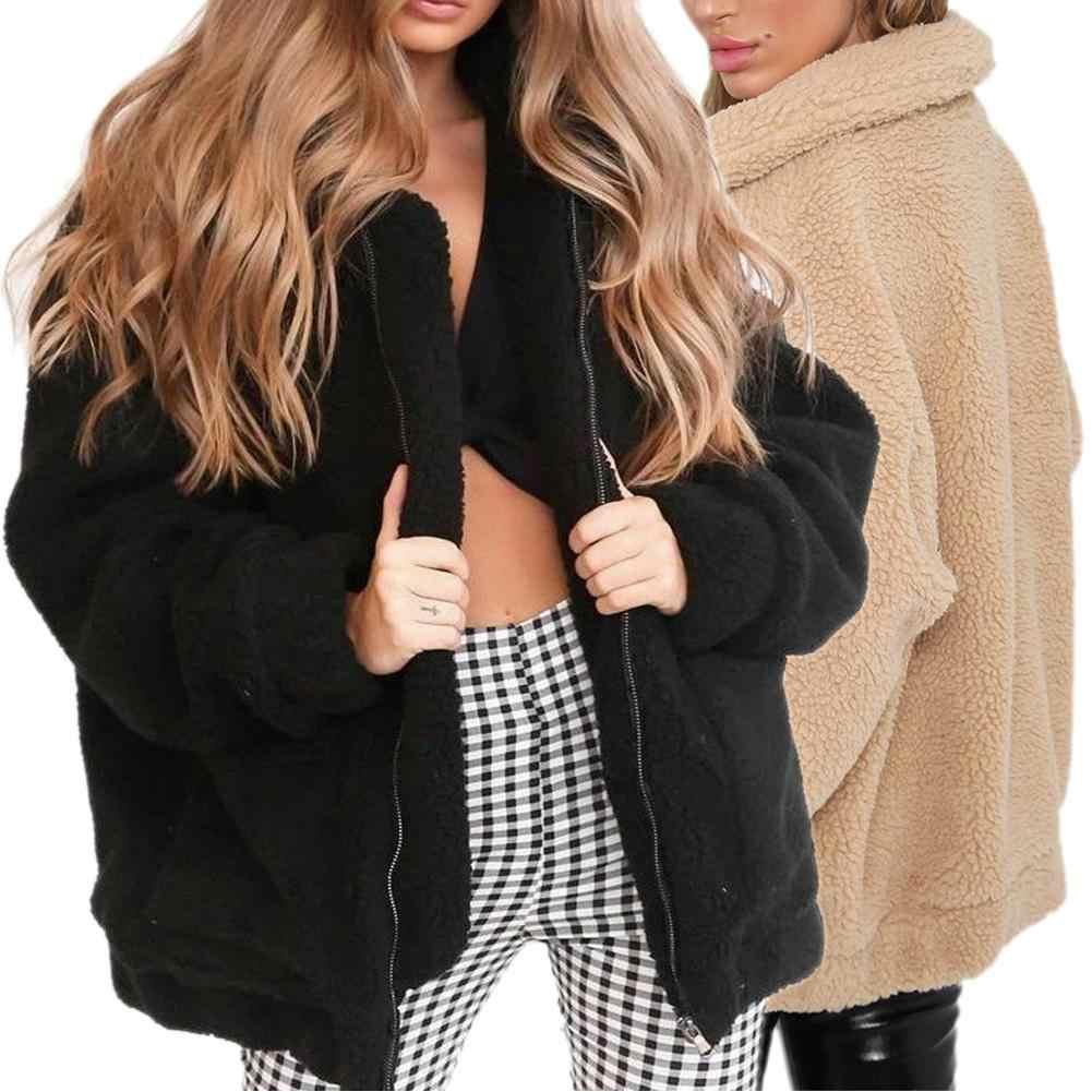 Full Length Teddy Bear Jacket Women Khaki, 8 NRUTUP Faux Fur Jacket Fuzzy Furry Fur Coat Longline Winter Coat Casual Outwear