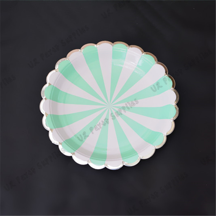 24 People Mint Silver Tableware set Scallop Paper Plates Dishes Light Green Cups Napkin wood Cutlery Baby Shower Birthday Party-in Disposable Party ... & 24 People Mint Silver Tableware set Scallop Paper Plates Dishes ...