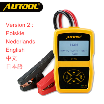 AUTOOL 12V Car Battery Tester Automotive Battery Power Measure Meter Auto CCA Analyzer BT360 with Multilanguages Russian Polish