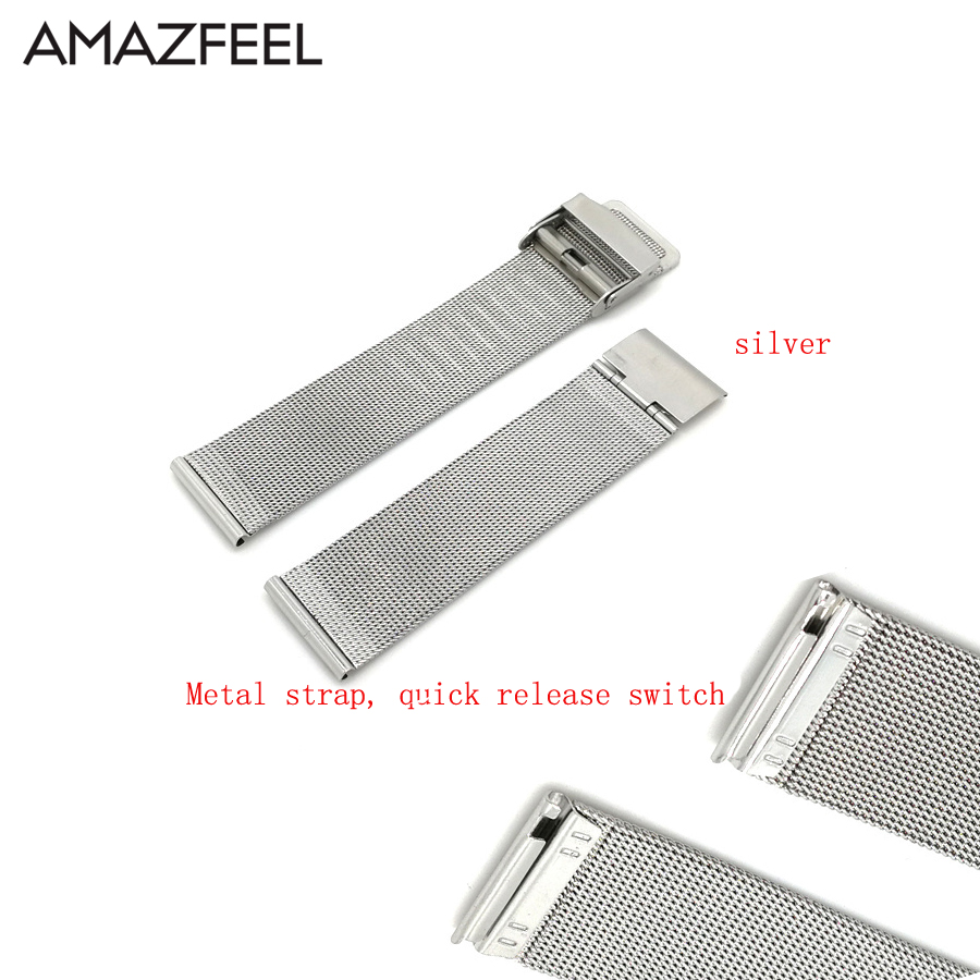 20mm 22mm Bracelet for Xiaomi Huami Amazfit Bip Lite Pace Stratos 2 Strap Metal Watchband for Huawei Watch GT 2 Pro Magic Bands