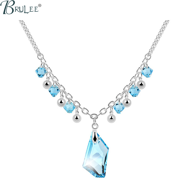 2017 New Fashion Crystal From Swarovski Necklace Water Drop luxury Selling Classic pendants women Wedding  jewelry Wholesale