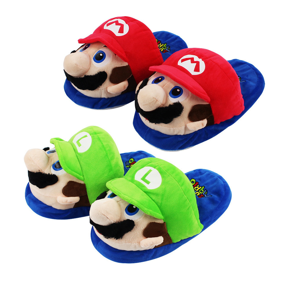 Super Mario Kids Adult Slippers Toys