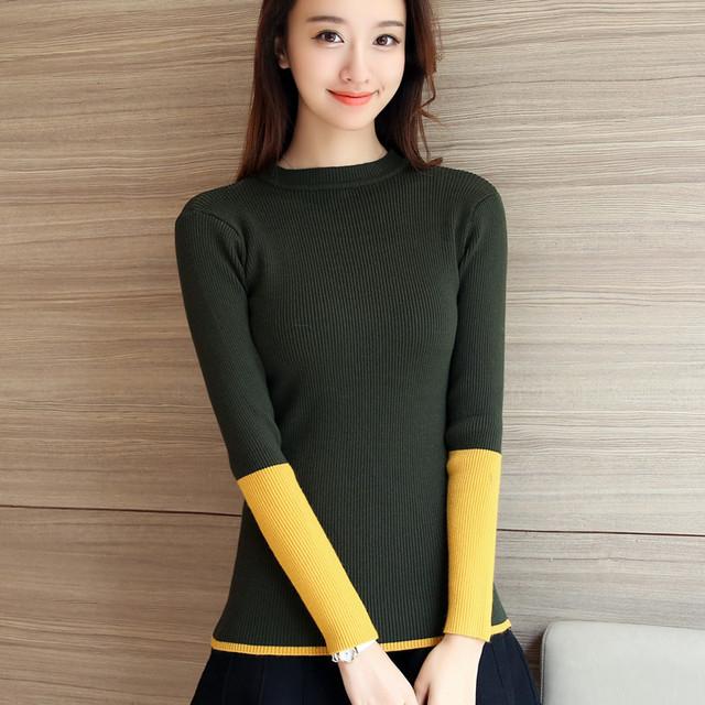 4343-2016 nuevo vestido de invierno suéter color de la manga 35