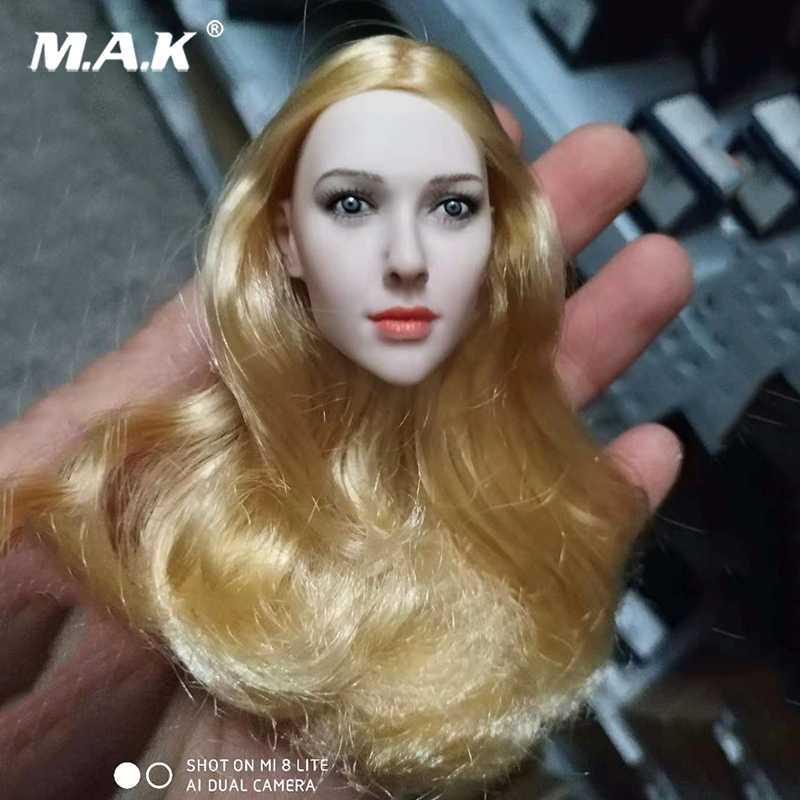 1:6 Scale Little Red Riding Hood Blond Hair Head Female Head Model For 12 PH Female Figure Body 1:6 Scale Little Red Riding Hood Blond Hair Head Female Head Model For 12 PH Female Figure Body