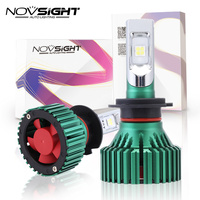 NOVSIGHT H7 LED Headlights Bulbs 60W 16000LM Driving Fog Car Lights Single Beam Fog Lamps 6500K