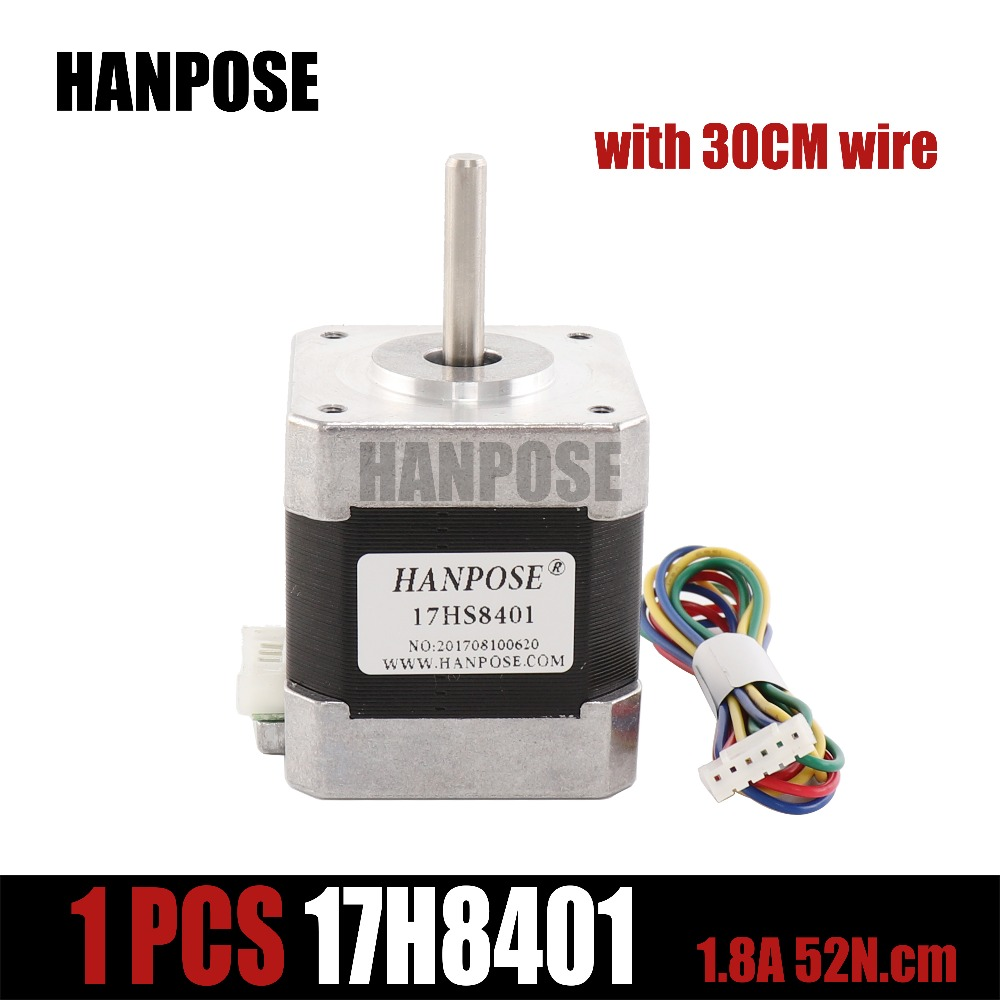 1pcs Free shipping 4-lead Nema17 Stepper Motor 48mm/ 78Oz-in / 1.8a  Nema 17 motor 42BYGH 1.7A (17HS8401)  motor for 3D printer1pcs Free shipping 4-lead Nema17 Stepper Motor 48mm/ 78Oz-in / 1.8a  Nema 17 motor 42BYGH 1.7A (17HS8401)  motor for 3D printer