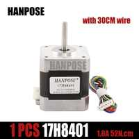 1pcs Free shipping 4-lead Nema17 Stepper Motor 48mm/ 78Oz-in / 1.8a Nema 17 motor 42BYGH 1.7A (17HS8401) motor for 3D printer