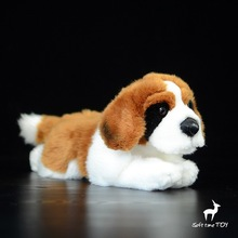 Simulation St Bernard Dogs Doll font b Toy b font Plush Animals Gifts font b Toys