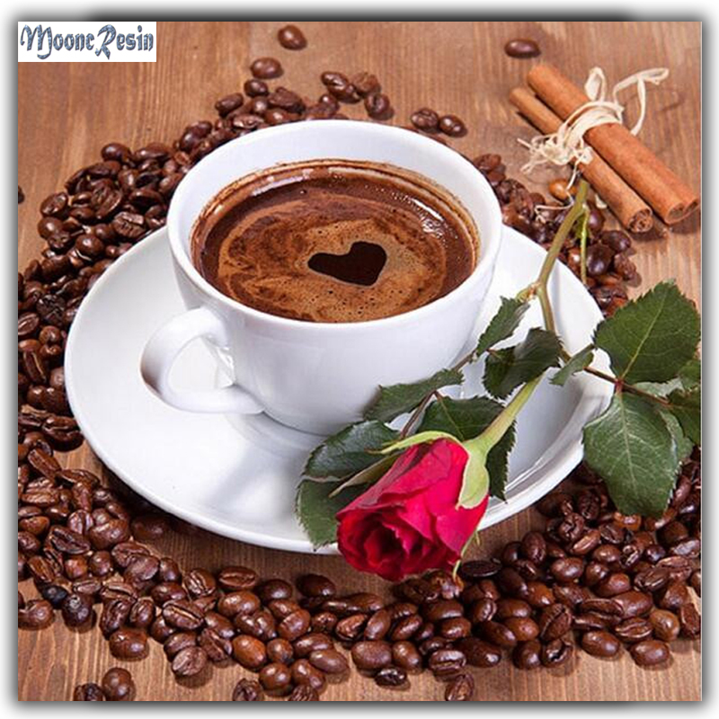 5D Coffee Cup Pattern Diamond Embroidery Diy Needlework Diamond Painting Cross Stitch Full Drill Rhinestone Paintings Decoration