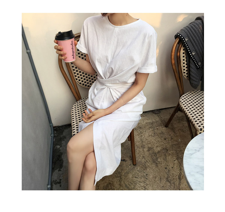 0cf2065fdc Detail Feedback Questions about Summer Wrap Dress Women Loose Simple ...
